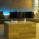 Hotel Torkel - Feuerquader in blauem Licht