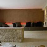 Hotel Torkel - Wellnesbereich mit Feuerquader und Sitzplatz